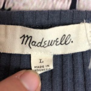 Madewell Tops - Size Large Knit Madewell Bodysuit